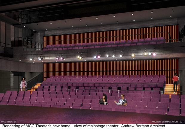The group's new space will include two theaters, rehearsal and workshop space and a public lobby.