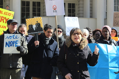 In neighborhoods like East Harlem, which are waiting to be rezoned, there is a tense nervousness and anger, said Marina Ortiz, of East Harlem Preservation.