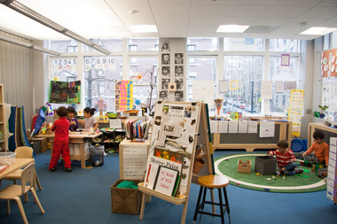 Kids are hard at work at the AltSchool in Brooklyn Heights, which opened last fall.