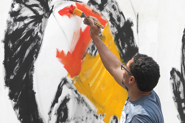 Oscar Abreu, an artist an event coordinator, will feature his work at the three-day event.