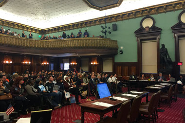 The City Council held a public hearing Monday on the proposal to rezone East New York, where Council members questioned agency officials on the plan's specifics and heard public testimony.