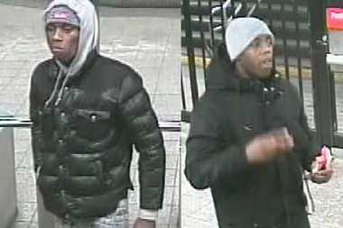 Surveillance images of the two suspects.