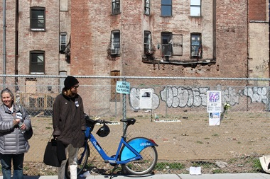 The lots left vacant by the East Village explosion have been sold.