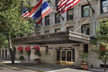 Hotel Plaza Athenee has been slapped with a discrimination lawsuit, which alleges that it fired an employee based on her age and Muslim beliefs.