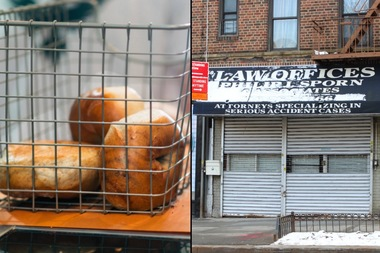 The Crown Heights-based bagel shop Nagle's Bagels is opening in three new locations, including this storefront at 50 Lincoln Road in Prospect-Lefferts Gardens.