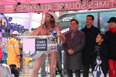 Naked Cowboy Joins Pols to Support Bill Regulating Times Square Plazas