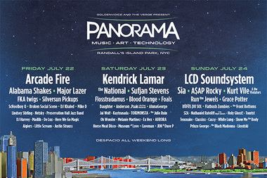 Kendrick Lamar, Arcade Fire and LCD Soundsystem will headline the Panorama Festival on Randall's Island this summer, according to the festival's website.