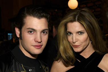 Peter Brant Jr. and his mother Stephanie Seymour pose for a photo at the Tribeca Film Festival last year.