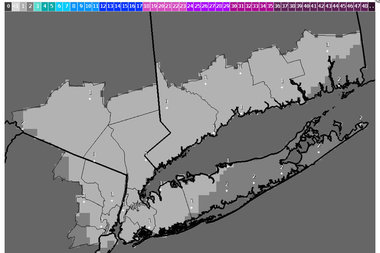 New York City may get one to three inches of snow Thursday and Friday, according to the National Weather Service.