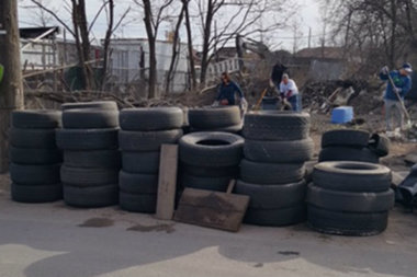 A crackdown and cleanup push to curb illegal dumping around Staten Island by Minority Leader Steven Matteo netted one arrest and 100 truck tires removed from a Travis street.