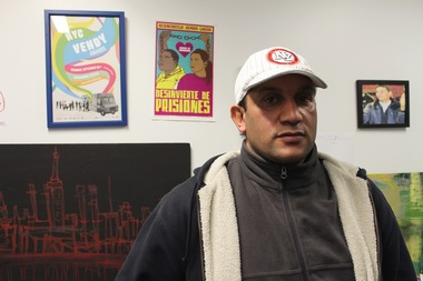 Vendor Wagih Hasan, 40, says he will be out of work until he gets back his cart, which was confiscated by NYPD.