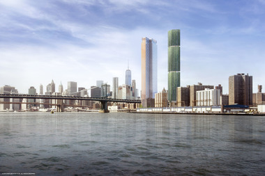 The 77-story tower will be right next door to the already growing 80-story Extell tower.