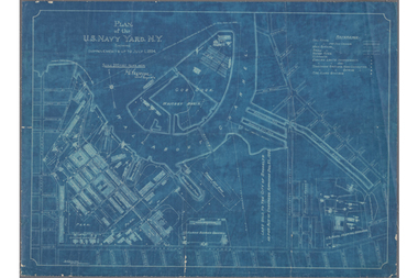 A plan of the Brooklyn Navy Yard from 1894.