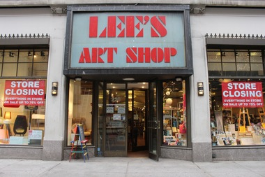 Lee's Art Shop at 220 W. 57th St. will close this summer.