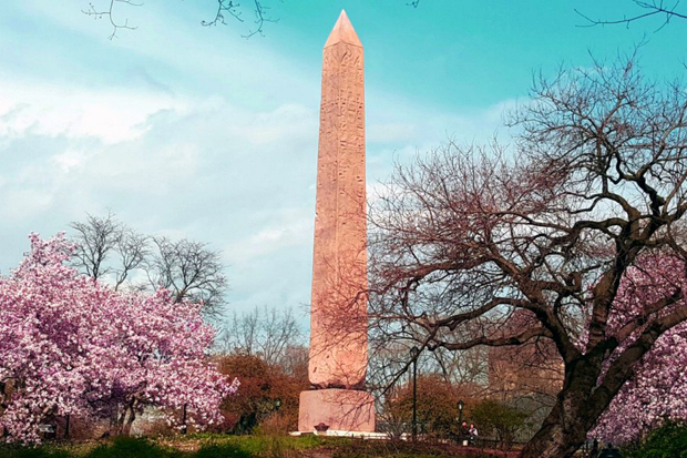 The conservators of the Obelisk in Central Park said that the Central Park Conservancy should illuminate the ancient monument's hieroglyphics with projectors. The restoration of the obelisk took a year and a half.