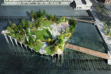 Construction was set to begin on the 2.7-acre Pier 55 off West 13th Street in the summer of 2016.
