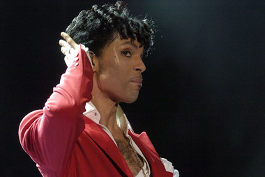 Prince, performing in 2004.