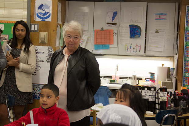Chancellor Carmen Fariña toured a print-based disabilities pilot program at P.S. 57.
