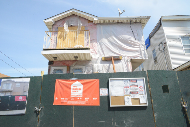 Robert Combs moved out of his house in Rockaway Beach in October in anticipation of it being lifted through the Build It Back program. There hasn't been much work on it since.