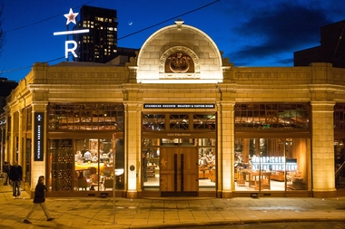 Starbucks will open its second roastery location in Chelsea two years after the opening of its Seattle, Wash. roastery (pictured above).