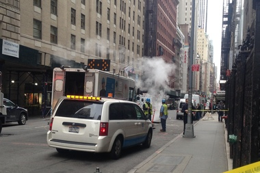 A broken water main on 58th street caused building evacuations and street blockages between 6th and 7th avenues.