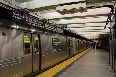 An attacker punched a woman in the head in the 49th Street subway station after following her into the station, police said.