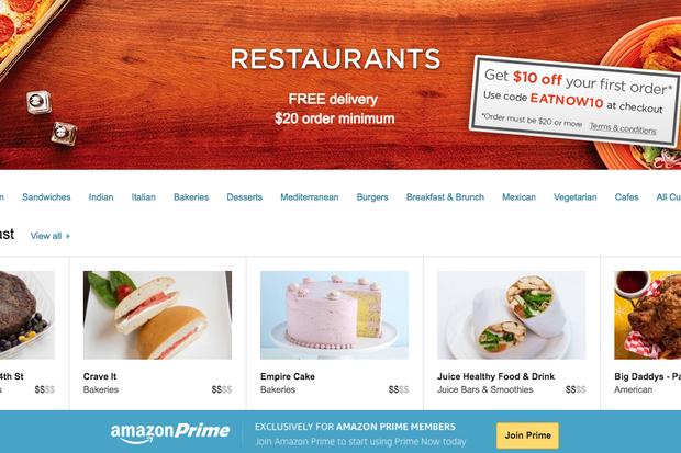 Amazon Prime Enters The Citys Food Delivery Service Fray Midtown
