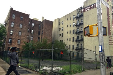 A plot of land at 152nd and St. Nicholas Ave. in Harlem, which had its deed restrictions lifted by a city agency after a developer paid $875,000.