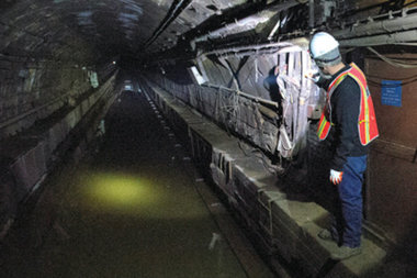 The Canarsie Tunnel flooded during Hurricane Sandy and needs to be repaired, according to the MTA.