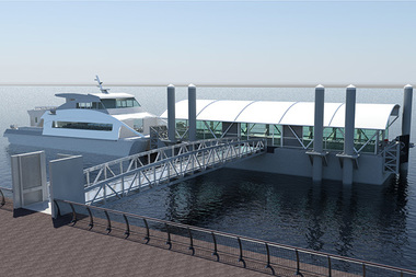 The city released renderings of the new Citywide Ferry landings that will be built by the time the service launches in June 2017.