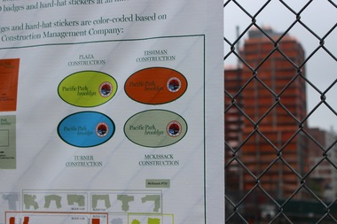 The developers of that Atlantic Yards/Pacific Park project in Prospect Heights have implemented a color-coding system for the four companies of construction workers at the site, following reports of harassment from residents.