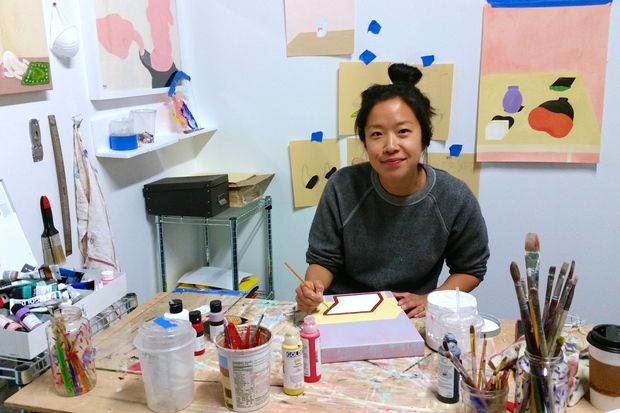 Crys Yin, one of the visual artists renting one of the new affordable art studios developed by Spaceworks NYC at 540 President St. in Gowanus.