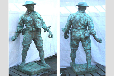 The city is working to restore a South Bronx statue meant to honor WWI veterans.