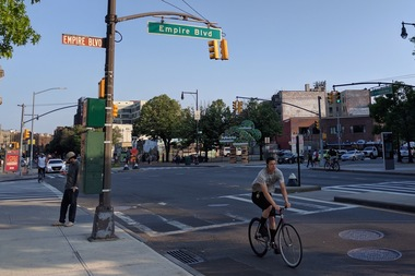 Brooklyn Borough President Eric Adams is pushing the DOT to consider making changes to Flatbush Avenue from Grand Army Plaza to Empire Boulevard on Prospect Park's east side that would make the corridor safer for bicyclists.