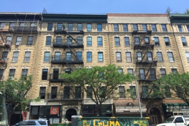An example of a building rehabbed with affordable housing units at 235 W. 116th St. in Central Harlem.