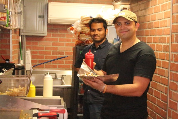 Waled Haredy and his business partner Inna Sobel have opened a tiny hole-in-the-wall Halal eatery on East 96th Street.
