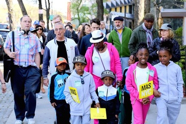 Walkers taking part in a Jane's Walk in the Bronx last year that explored the Grand Concourse.