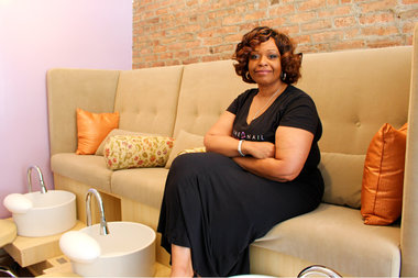 Karla Carrington opened The Nail Belle, an eco-friendly nail salon, on Malcolm X Boulevard this May.