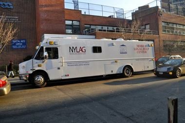 The Mobile Legal Help Center, a project of the New York Legal Assistance Group, will be in Harlem to help locals with legal work.