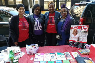 Maria Davis (second from right) at an HIV/AIDS awareness event May 10, 2016.