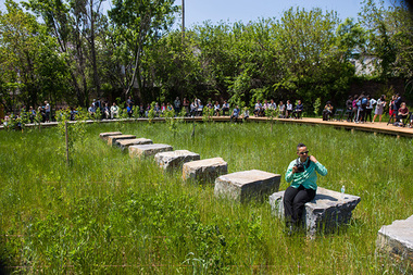 The Naval Hospital Cemetery Memorial Landscape at the Brooklyn Navy Yard opened Friday to the public.