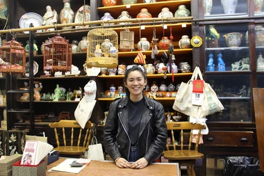 25-year-old Mei Lum now runs the antique store on Mott Street that has been in her family for 90 years.