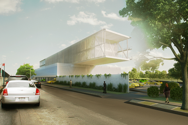 A rendering of the future TLC inspection facility at 24-55 BQE West.