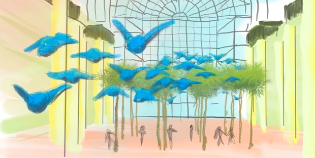 175 Kinetic Birds to Float Inside New Brookfield Place Exhibit ...