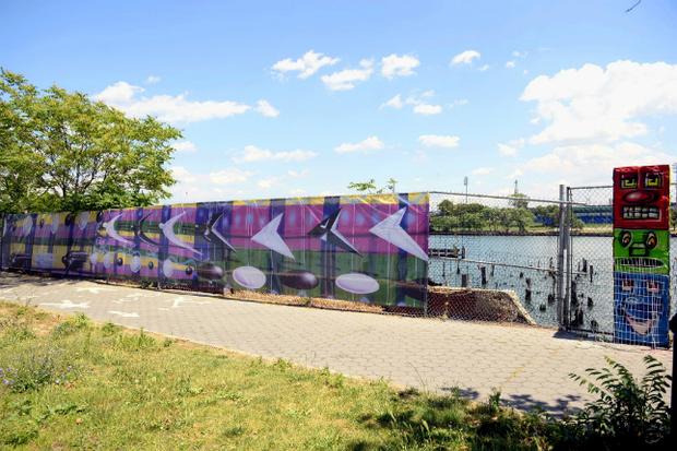 Group Installs East River Esplanade 39 S Public Art Display