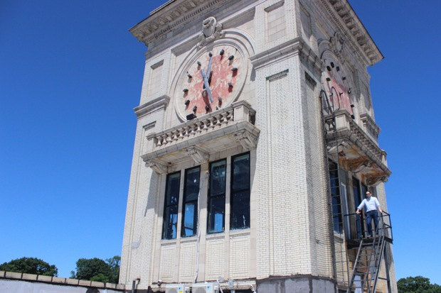 Jack Srour, owner of 495 Flatbush Ave. in Prospect-Lefferts Gardens, is beginning at $150,000 restoration project of the historic building's iconic clocktower.