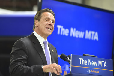 Gov. Andrew Cuomo speaks at a press conference in May 2016.