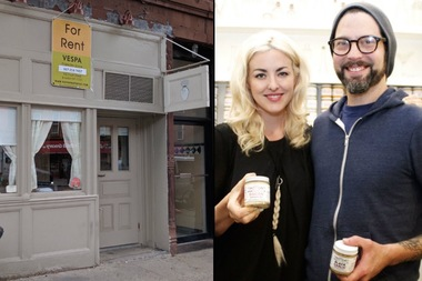 The Empire Mayonnaise Co. will move out of its Prospect Heights shop, left, this summer said co-owner Elizabeth Valleau, pictured at right with co-founder Sam Mason.
