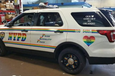 The NYPD decked out one of it's vehicles in pride colors this year.
