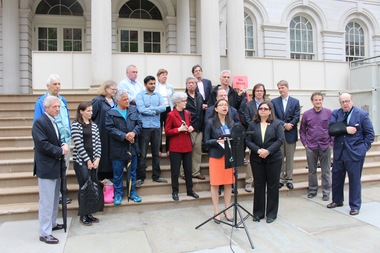 Community Board 3 Chairwoman Gigi Li joined a host of community members and elected officials Friday to demand a voice in the governor's Alcohol Beverage Control Law Working Group.